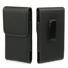 Black PU Leather Case Flip Cover Pouch Bag Belt-Clip Holster New for Cell Phone
