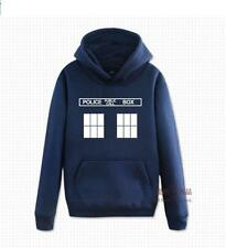 New Doctor Who Dr.WHO Tardis Police Box Hoodie Jacket Sweatshirt 3 Colors