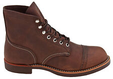 Red Wing Heritage Classic Iron Ranger Cap Toe Work Boot Amber Brown Leather 8111