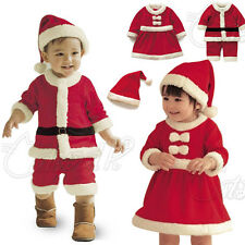 BABY KID BOY GIRL CHRISTMAS OUTFIT RED SANTA CLAUS COSTUME PARTY DRESS XMAS GIFT