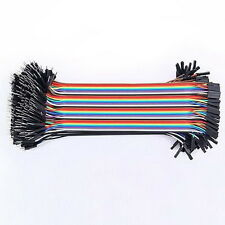 40 Pcs Dupont Jumper Wire M-M / M-F / F-F Cable Pi Pic Breadboard For Arduino