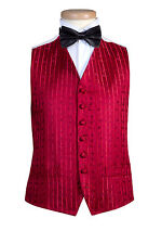 £10 MENS AND PAGE BOYS RED WEDDING DRESS WAISTCOAT FOR CHRISTMAS PARTY BALL PROM