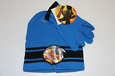 HOW TO TRAIN YOUR DRAGON Toddler Boys Hat & Gloves WINTER SET Cap Beanie NEW
