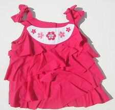 Gymboree NWT FLORAL MERMAID Gem Ruffle Flower Sun Tank Top Shirt 12 18 24 2 2T