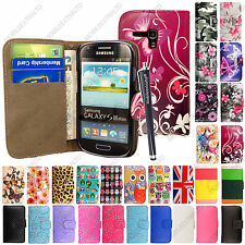 For Samsung Galaxy S3 MINI i8190 i8200 VE Leather Flip Case Cover + Guard+Stylus