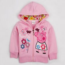 HOT New Peppa Pig Autumn Winter Clothes 2Y-6Y Kids Girls Hoody Jacket Coat
