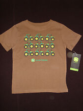 JOHN DEERE Baby Toddler Boy Brown Multi Tractors SS TShirt 12M 18M 24M 2T 3T 4T