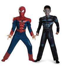 Boys REVERSIBLE SPIDERMAN Muscles costume dress up Size 4-6 7-8 10-12 Spider man