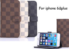 """Hot Leather Flip Card Wallet Case Cover For Apple iPhone 6 (4.7"""") iPhone 6 Plus"""