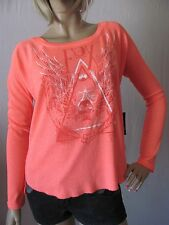 New FOX Racing Womens Jrs Pink Graphic Print Eve L/S Thermal Tee Shirt Top $39