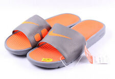 Nike Benassi Solarsoft Slide # 431884 003 Orange & Grey Men SZ 12 - 15