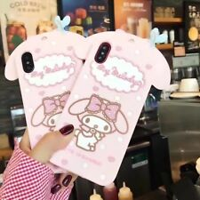 Cartoon lovely Pink Melody Rubber  Soft Case cover for Apple iphone6 plus 4.7""