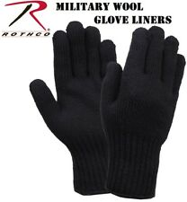 Black D-3A Military Wool Nylon Blend Glove Liners - Made in the USA 8518