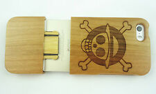 Natural Real Wood/Bamboo Engraving Skin Cover Case Frame For Apple iPhone5,5S