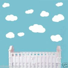 Clouds Wall Decals Assorted Sizes White Vinyl Stickers Nursery Kids Room Decor