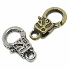 5 Carabiner Closures 18x10mm Pattern silver bronze Chains Jewellery Closure