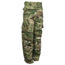 Kids Boys Camo Army Camouflage Trousers Cadets Military British Army MTP Style