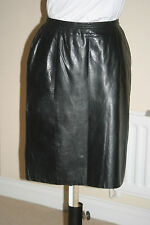 LADIES WOMEN BLACK Real Leather Skirts Sizes Waist 26in 66cm to 35in 89cm