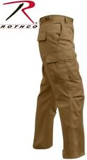 Coyote Brown 6-Pocket Military Poly/Cotton BDU Cargo Fatigue Pants 8522