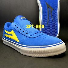 LAKAI MANCHESTER SELECT ROYAL BLUE YELLOW SUEDE MENS SKATE SKATEBOARD SHOES