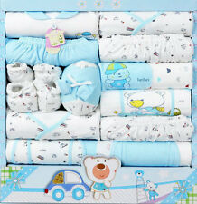 Newborn Baby Gift Set 15pcs 100% Cotton Boy Girl  Infant Toddlers Clothes Suits