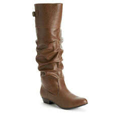 Womens CANDIES Slouch Wide Calf - Tall Knee High Boots ~  BROWN sz 8.5