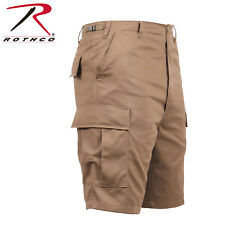 Coyote Brown Military Police Security BDU Combat Cargo Shorts Poly/Cotton 66212