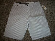 FOX RACING New NWT Mens Casual Walk Shorts White Stripe Black 32 33 34 36