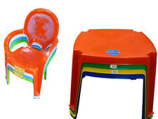 Kids Childrens Plastic Table and Chairs Set (Choose Colour) / Tables & Chair +