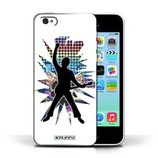 Hard Case Bumper Cover for Apple iPhone 5C / Printed Rockpose - White Design
