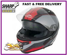 *HELMET & VISOR OFFER* Stealth HD117 Red Full Face Motorcycle Helmet ECE & ACU