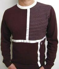 Pierre Cardin Heritage - Crew Neck Asymmetric Knit Jumper in Claret / Was £55