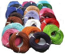 5 Meter Real Leather Rope String Cord Necklace Charms 2.0 mm 22 Colors