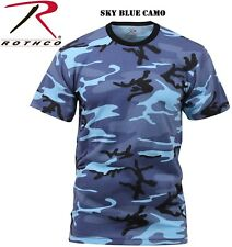 Sky Blue Camouflage Tactical Military Short Sleeve Army Camo T-Shirt 6788