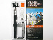 Wireless Bluetooth Extendable Selfie Monopod Phone Stick Pole with Remote Button