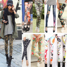 HOT Women Sexy ladies' Skinny Stretchy Pencil Tights Pants Punk Funky Pants