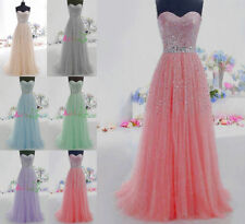 Girl's Elegant Long Prom Quinceanera Ball Gown Sweet Sixteen Formal Party Dress