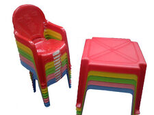 Kids / Childrens Table and Chair Set - Chairs with Duck on (Choose Colour) & +
