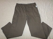 NAUTICA CARGO PANTS MENS SIZE 36X34 DARK GREY COLOR ZIP FLY NEW WITH TAGS