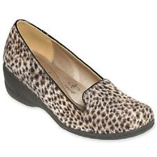 Hush Puppies Leopard Calf Hair Soft Style Lindzey Wedges - MSRP $65