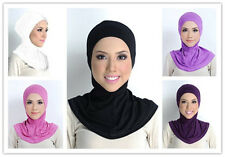 New Zipper Cotton Jersey Inner Cap Bonnet Cover Head and Neck Muslim Hijab