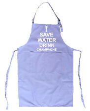 SAVE WATER DRINK CHAMPAGNE LILAC APRON BIRTHDAY CHRISTMAS GIFT DRINK BOOZE WINE