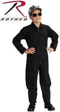 BLACK Kids Army Navy Air Force Marines Military Flight Suit Coveralls 7301