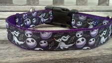 Nightmare Before Christmas Inspired Ribbon dog collar, Zero Jack Collar, Leash