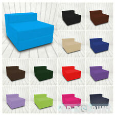 Z Bed Single Size Fold Out Chairbed Chair Foam Folding Guest Sofa Cotton Twill