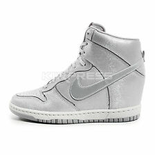 Nike WMNS Dunk Sky Hi Cut Out PRM [644411-001] NSW Wedges Wolf Grey/Silver
