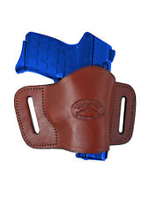 New Barsony Burgundy Leather Quick Slide Holster Bersa Star 380 Ultra Comp 9mm