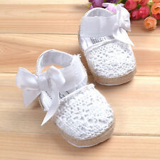 NEW Baby Girl White Lacey Espadrilles Shoes 3-18 months Size 2.4.5