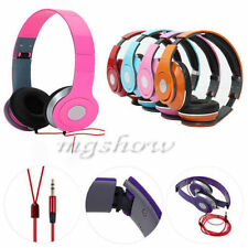 Foldable Stereo DJ Style Headphones Earphone Headset Over-Ear For Mobile Phone