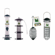 Cozy Bay® Wild Bird Feeders Steel Feeder Metal Peanut Seed Fat Ball All Sizes
